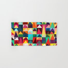 Abstract Geometric Mountains Hand & Bath Towel