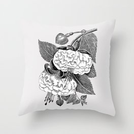 Vintage flower illustration 2 Throw Pillow