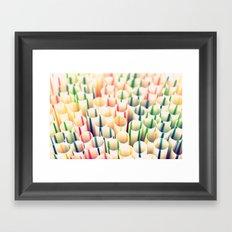 Stripes & Straws Framed Art Print