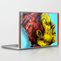 tom waits Laptop & iPad Skins featuring Tom Waits by Alec Goss