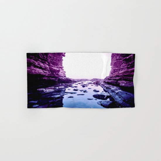 Purple Blue Lagoon Hand & Bath Towel