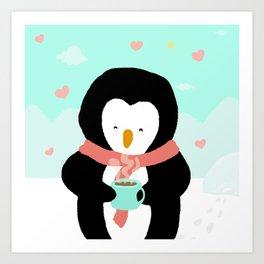 Lovely Penguin Art Print