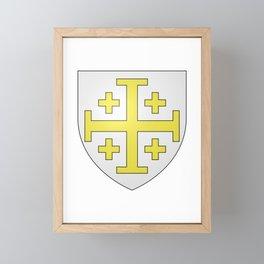 Coat of Arms of Kingdom of Jerusalem  Framed Mini Art Print