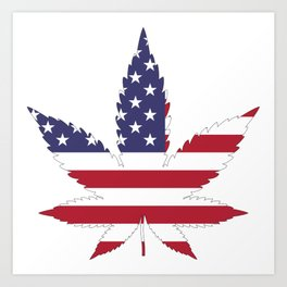 In Weed We Stand Art Print
