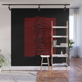 Joy Division - Unknown Pleasures [Red Lines] Wall Mural