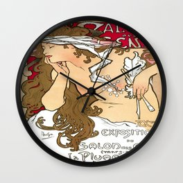 Vintage poster - Salon des Cents Wall Clock
