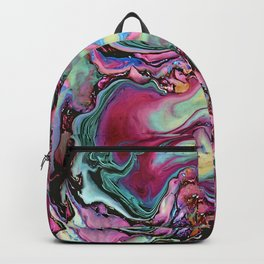 Colorful abstract marbling Backpack
