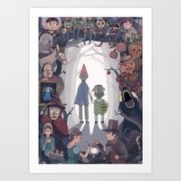 over the garden wall Art Prints featuring Over the Garden Wall by KEL H