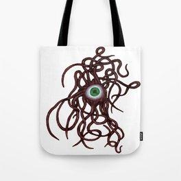 Evil Eye Halloween Creature Vector Red Tote Bag