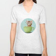 Kitten with glasses Unisex V-Neck