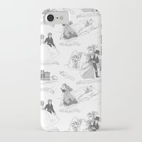 pride and prejudice iPhone & iPod Cases featuring Pride and Prejudice Toile by Aimee Steinberger