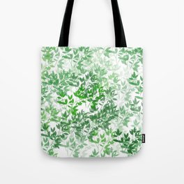 Inspirational Leafy Pattern Tote Bag
