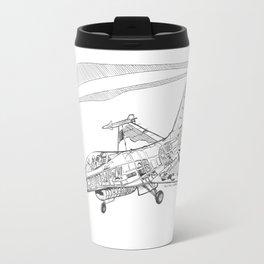 F16 Cutaway Freehand Sketch Travel Mug
