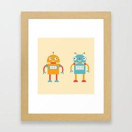 Two robots Framed Art Print