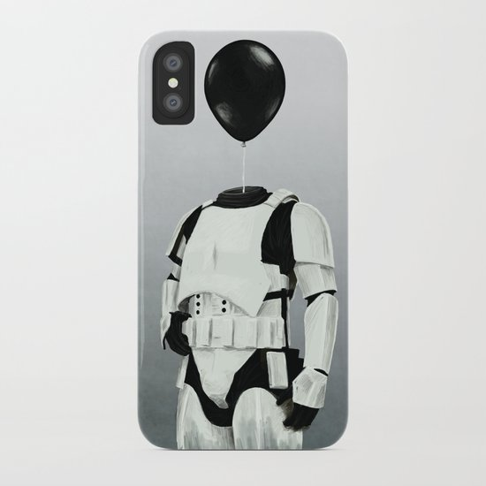 The Stormtrooper - #2 in the Balloon Head Series iPhone Case