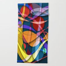 Abstract #358 Beach Towel