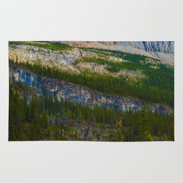 Highest Mountain in the Canadian Rockies; Mount Robson Rug