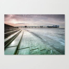 Blackpool North Pier Curve Canvas Print