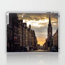 Royal Mile Sunrise in Edinburgh, Scotland Laptop & iPad Skin