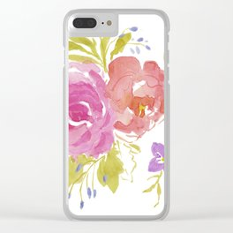 Two Roses Clear iPhone Case