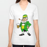 patrick V-neck T-shirts featuring St. Patrick by Rab Sizzle