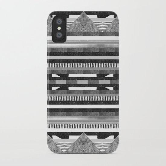 DG Aztec No.2 Monotone iPhone Case