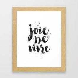JOIE DE VIVRE, French Decor,French Quote,Dorm Room Decor,Home Decor,Modern Art,Girls Printable,Girls Framed Art Print