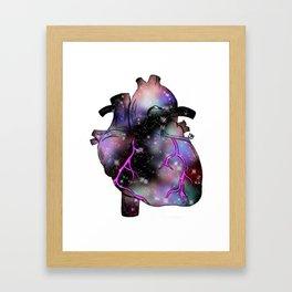 Galaxy Heart Framed Art Print