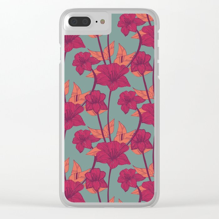 Vintage Blossoms Clear iPhone Case