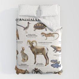 Desert Animals of Death Valley Comforters