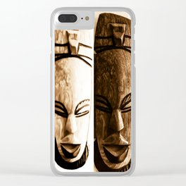 mother earth ancient goddess Clear iPhone Case