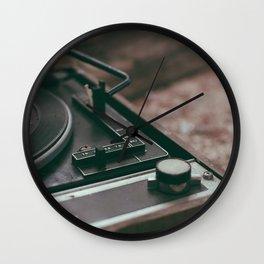 Vintage turntable Wall Clock