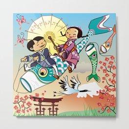 Japan flying fish Metal Print