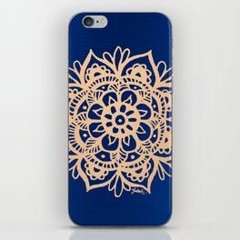 Blue and Gold Mandala iPhone Skin