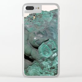 Natural Malachite Clear iPhone Case