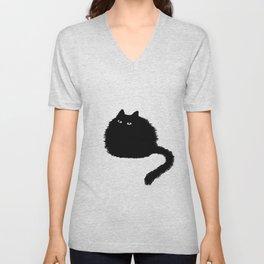 Black cat Unisex V-Neck