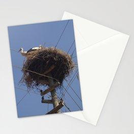 Storks on Electric Pylon  Stationery Cards