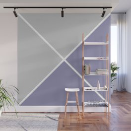 Envelope Geometric Shape Grayish Blue with Light Gray and White Wall Mural