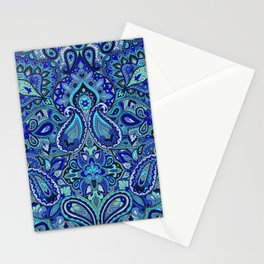 Paisley Blue Stationery Cards
