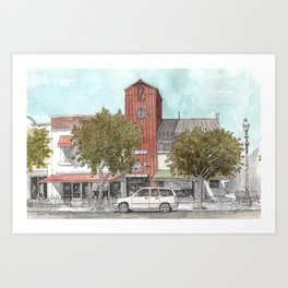 Sketching in Clovis, California Art Print
