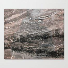 Smokey gray marble Canvas Print