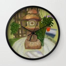 Tea House Garden #Japan #Nature Wall Clock