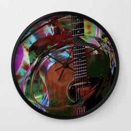 The Magic of Guitar Waves Wall Clock