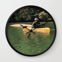 Kayak Fishing Wall Clock