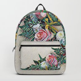 Rose Ring in pink, white, yellow and green Backpack