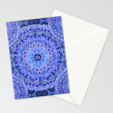 Hyacinth Frost Mandala Stationery Cards