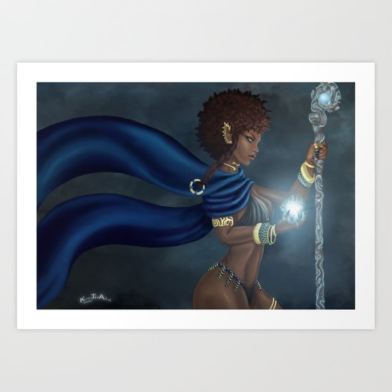 Dark Elf Art Print
