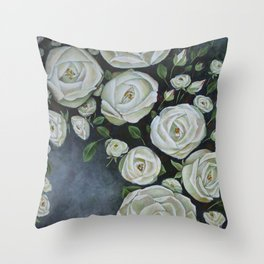 Iceberg Roses Throw Pillow