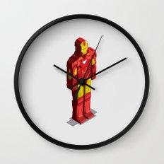 Ironman - Isometric Heroes Wall Clock