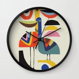 Pelicans Love Wall Clock